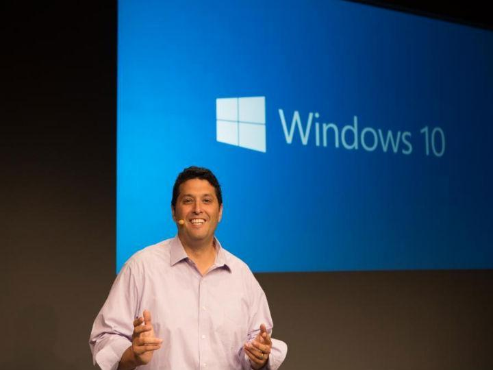 Terry Myerson, da Microsoft, apresentou o novo Windows 10 (Twitter/ Microsoft)