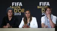 Nadine Angerer, Marta e Abby Wambach (Reuters)