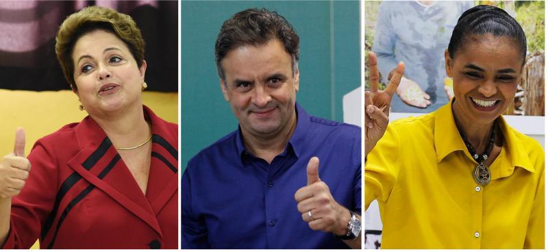 Candidatos às presidenciais do Brasil (Reuters)