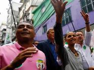 Romário em campanha para o Senado brasileiro
