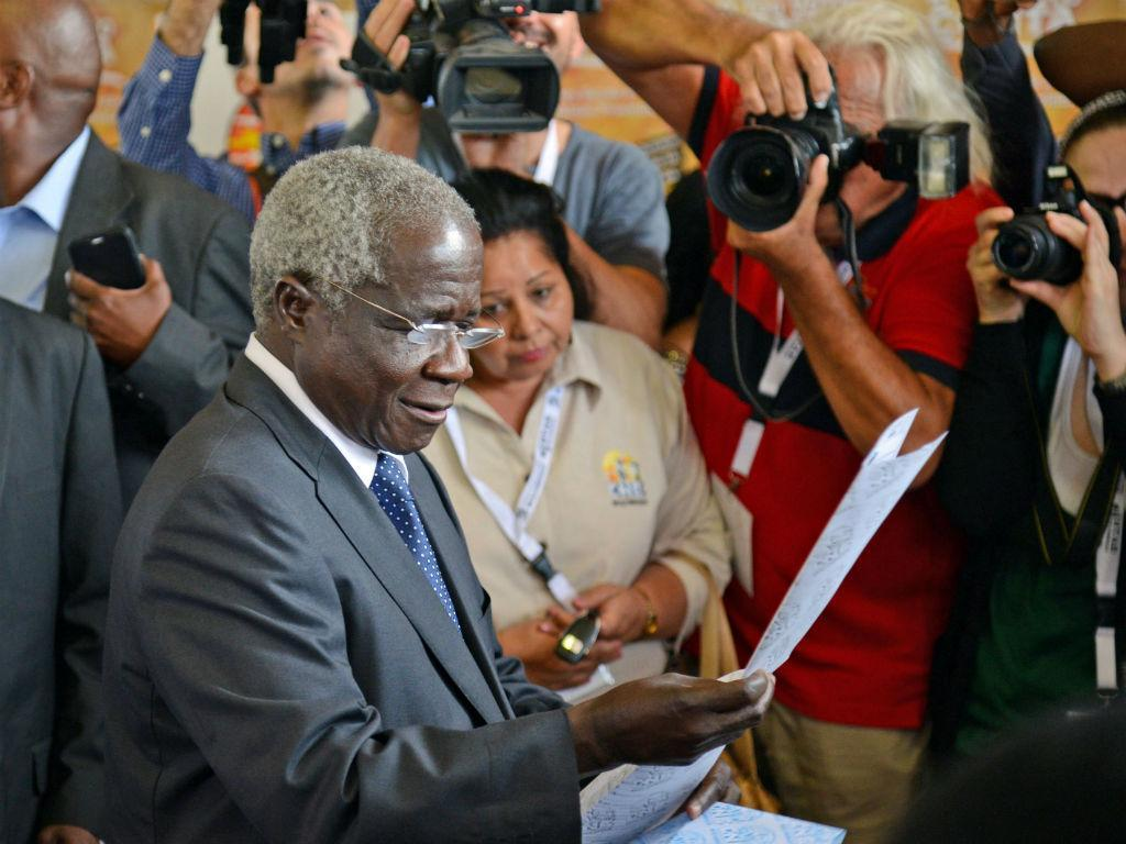 Afonso Dhlakama, líder da Renamo. Mais de 10 milhões de moçambicanos chamados às urnas (LUSA)
