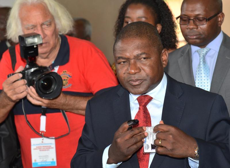 Filipe Nyusa, da Frelimo. Mais de 10 milhões de moçambicanos chamados às urnas