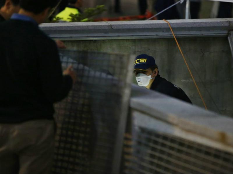 Acidente em concerto [Reuters]