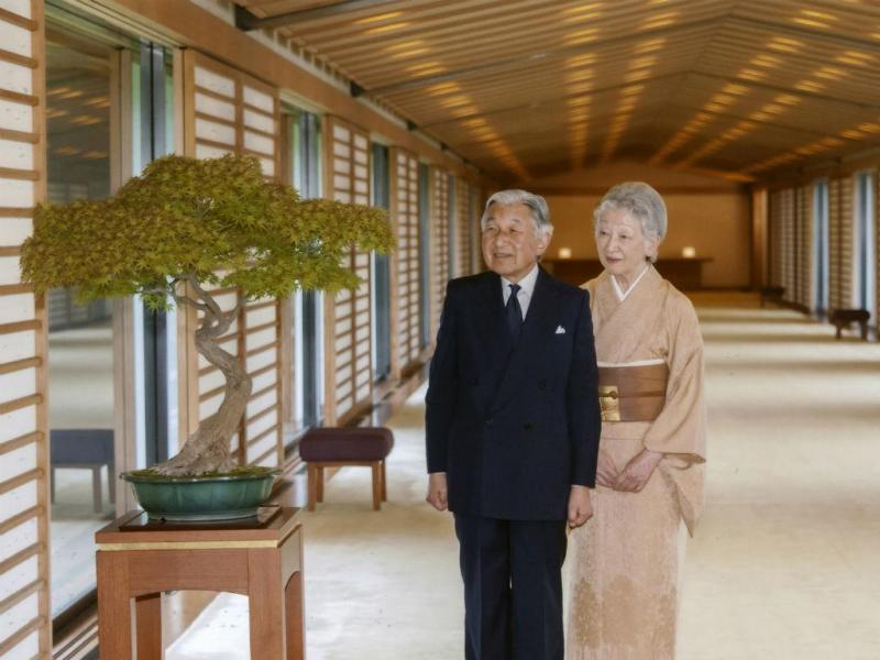 O Imperador do Japão, Akihito, e a imperatriz, Michiko (Reuters)