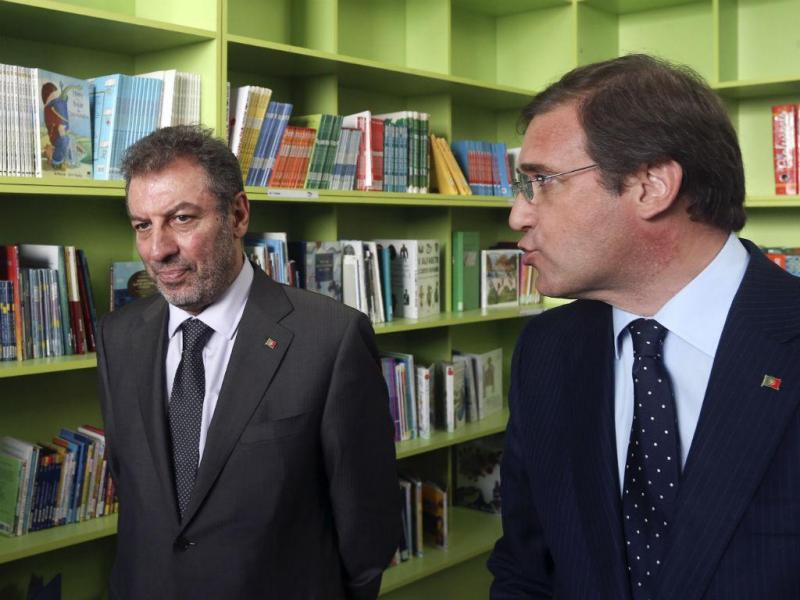 Passos Coelho e Nuno Crato (LUSA)
