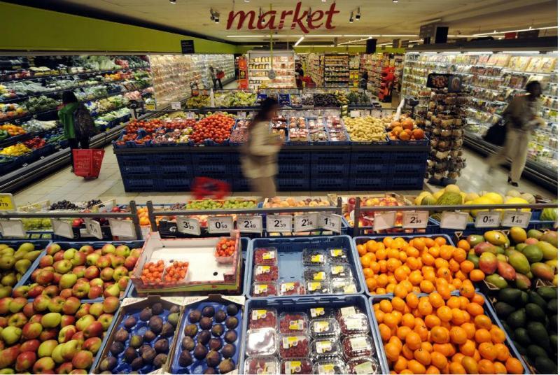 Secção de frutas e legumes (Reuters)