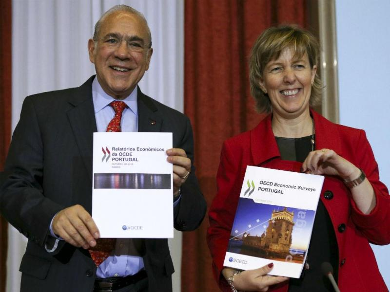Angel Gurria e Maria Luís Albuquerque [Foto: Lusa]