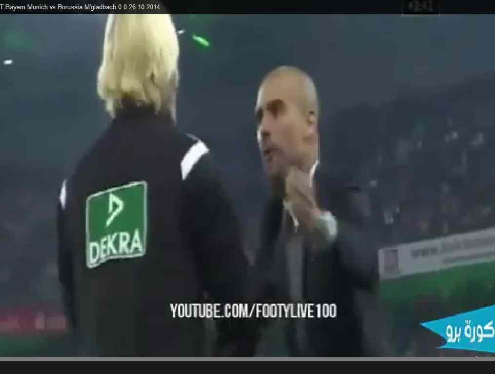 A pressão muito alta de Guardiola sobre a árbitra