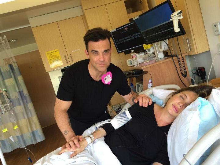 Robbie Williams partilhou com os fãs o nascimento do segundo filho (Twitter)