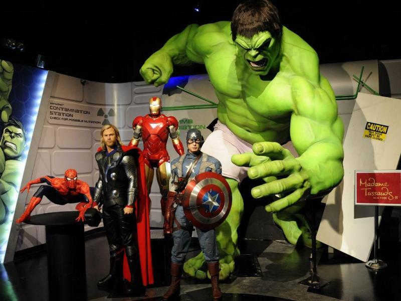 Heróis da Marvel em cera (REUTERS)