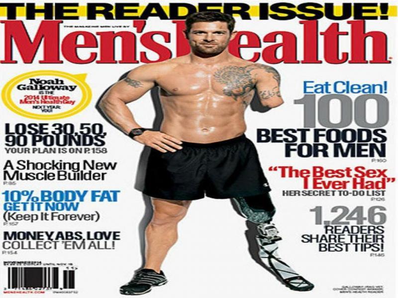 Capa da «Men's Health» de novembro