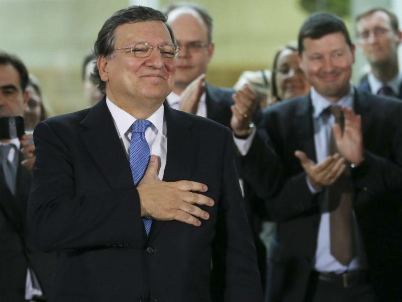 Durão Barroso despede-se da Comissão Europeia. Juncker toma possa este sábado. EPA/OLIVIER HOSLET