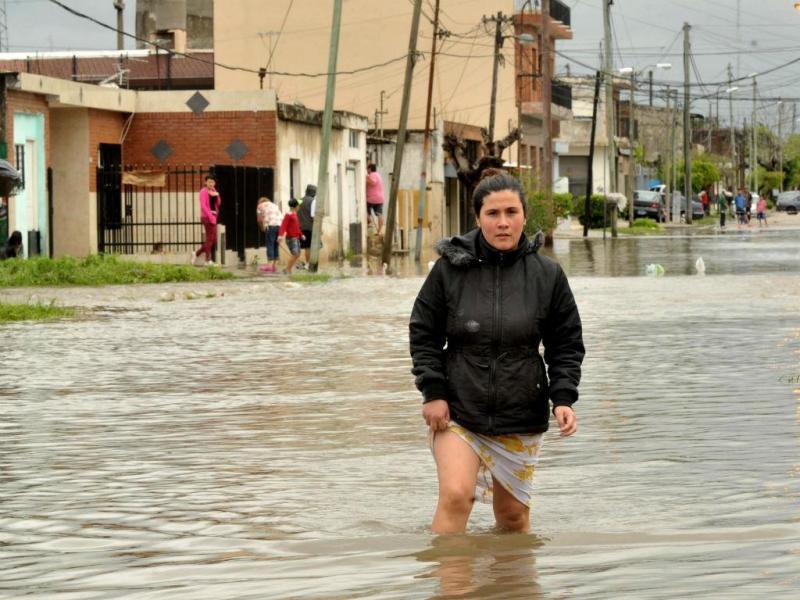 Cheias na Argentina [Foto: EPA]
