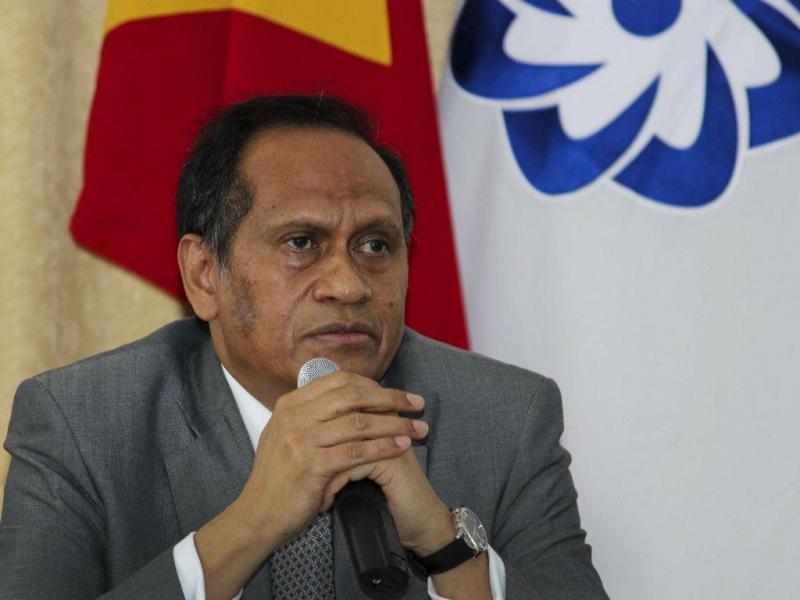 Ministro dos Negócios Estrangeiros timorense, José Luís Guterres (ANTÓNIO AMARAL/LUSA)