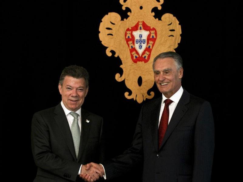 Cavaco Silva recebe Juan Manuel Santos, presidente da Colômbia ( MARIO CRUZ/LUSA)