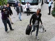 Seleção Nacional chega ao hotel no âmbito do jogo contra a Arménia (LUSA)