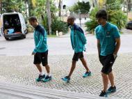 Seleção: Tiago, Bosingwa e Ricardo Carvalho (Lusa)