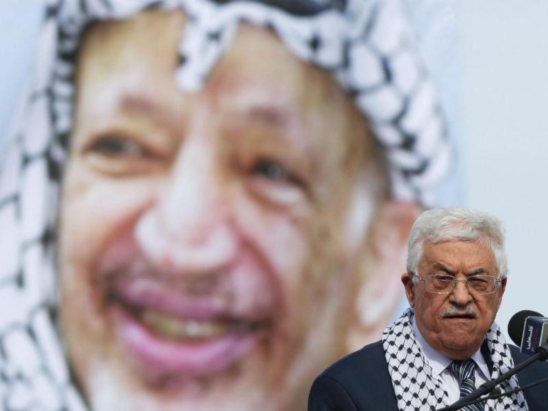 Presidente da Autoridade Palestiniana, Mahmoud Abbas, discursa em Ramallah (EPA)