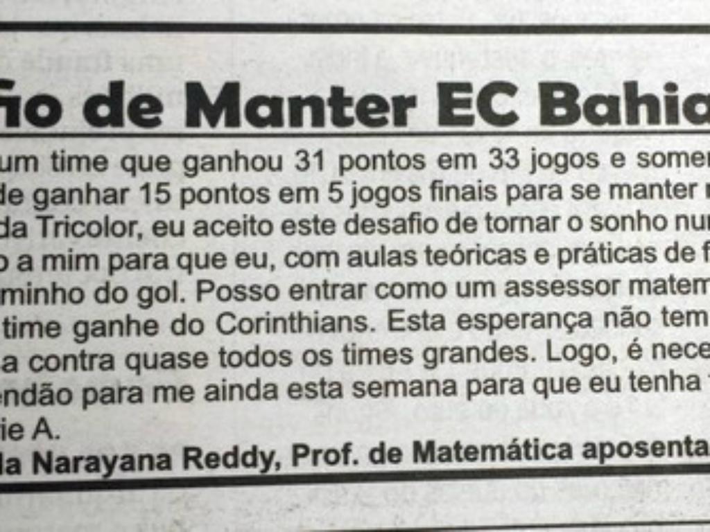 Anúncio Bahia