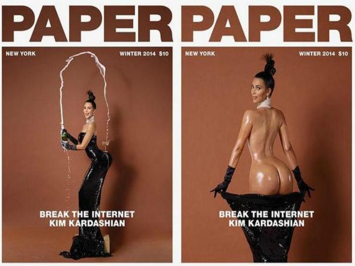 Kim Kardashian é a capa da revista «Paper»