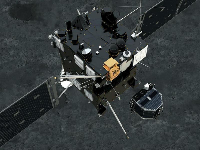 Robot Philae separa-se da sonda espacial Rosetta (Lusa/EPA)
