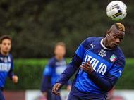 Italia: Treino de preparação para o jogo com a Croácia (LUSA)