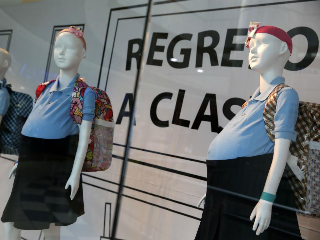 Manequins grávidas em Caracas (Reuters)