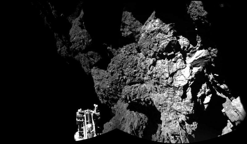 Imagens da Rosetta, o módulo Philae que aterrou num cometa (EPA/LUSA)