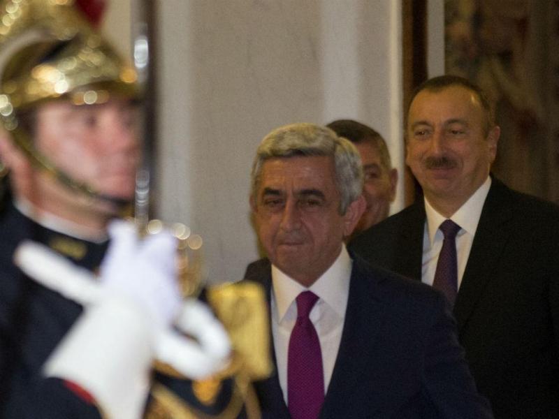 Presidentes da Arménia e do Azerbaijão (REUTERS)