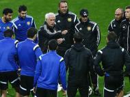 Treino da Arménia para o jogo contra Portugal (LUSA)