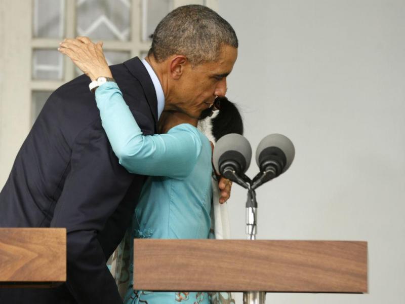 Aung San Suu Kyi e Barack Obama (REUTERS)