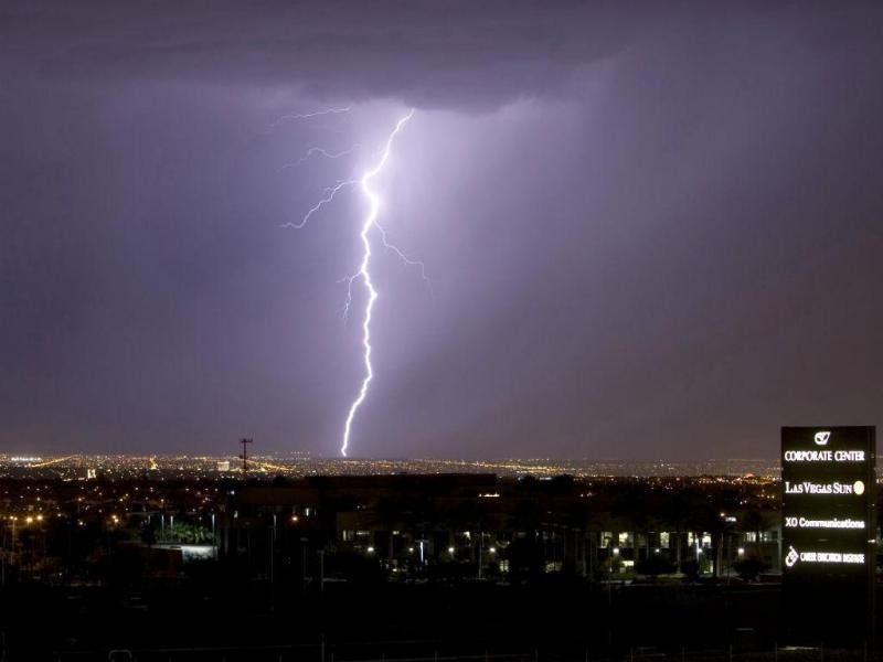 Relâmpago em Las Vegas (Reuters)