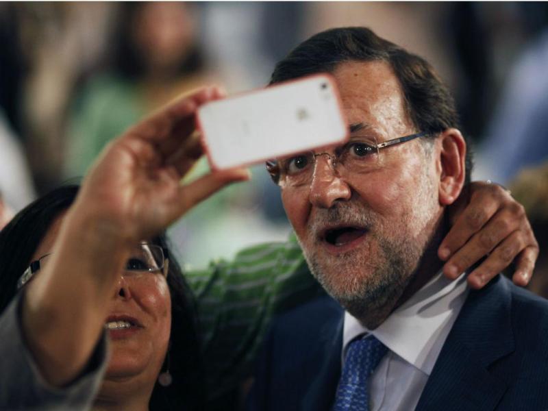 Selfie de Mariano Rajoy (Reuters)