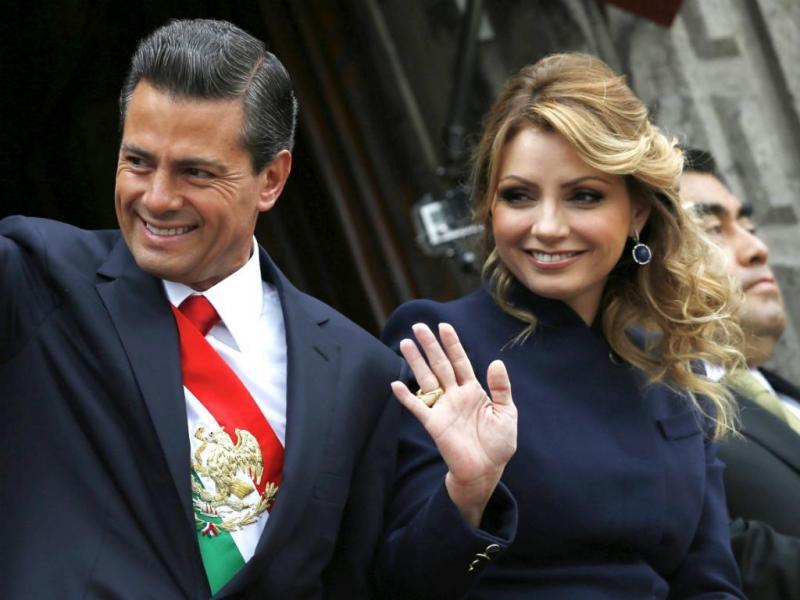 Enrique Pena Nieto e a mulher, Angelica Rivera [REUTERS]