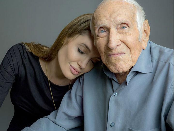 Zamperini e Angelina Jolie