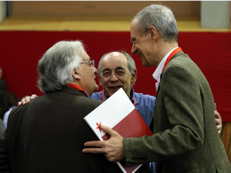 Francisco Louçã, Fernando Rosas e João Semedo - IX Convenção do Bloco de Esquerda [Lusa]