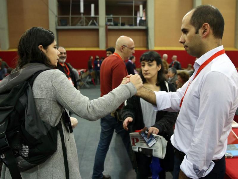 Mariana Mortágua e Pedro Filipe Soares - IX Convenção do Bloco de Esquerda [Lusa]