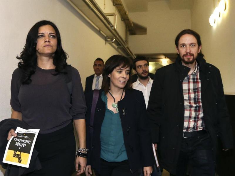 Marisa Matias, Catarina Martins e Pablo Iglésias - IX Convenção do Bloco de Esquerda [Lusa]