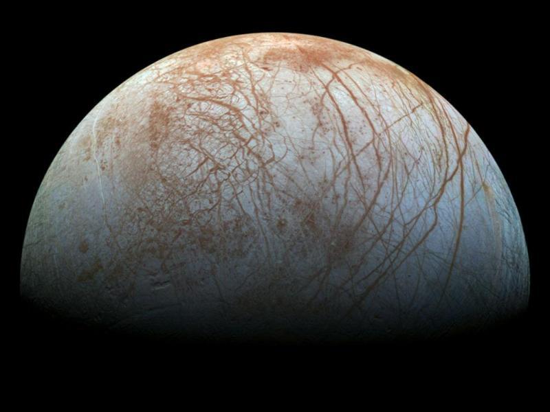 Lua Europa de Júpiter (NASA/JPL)