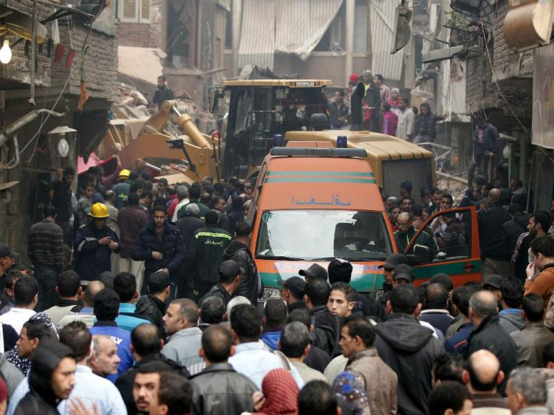 Desabamento de prédio no Cairo (Lusa)