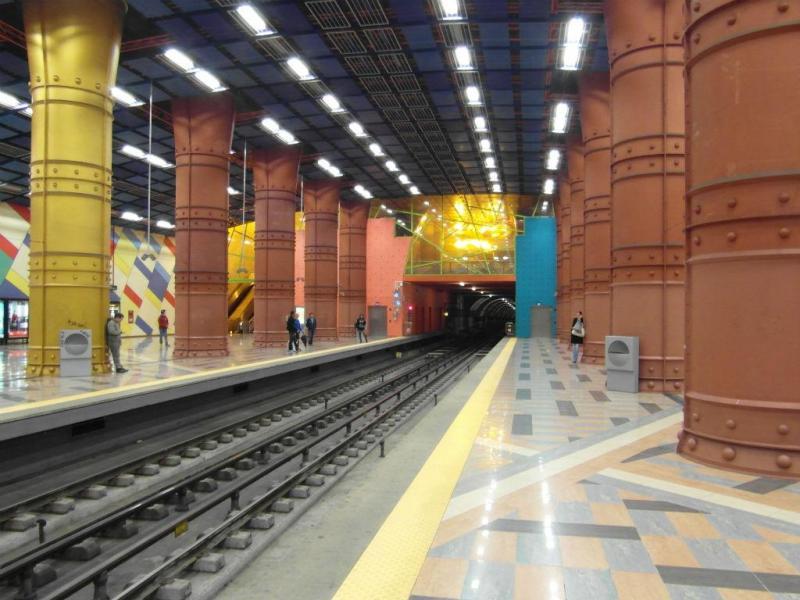 Estação de metro das Olaias, em Lisboa