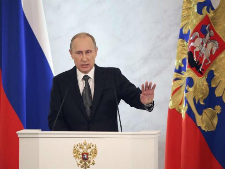 Vladimir Putin no discurso à Nação, esta quinta-feira (Reuters)