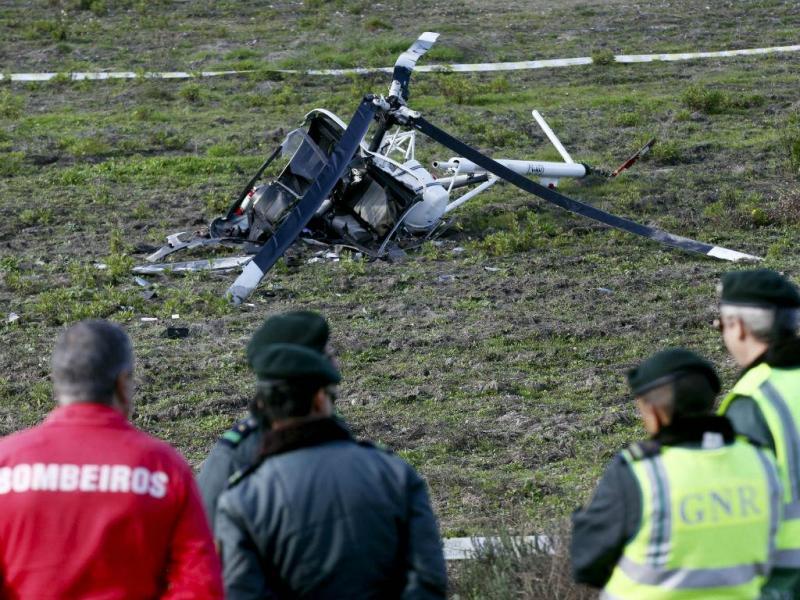 Queda de helicóptero em Montargil (LUSA)