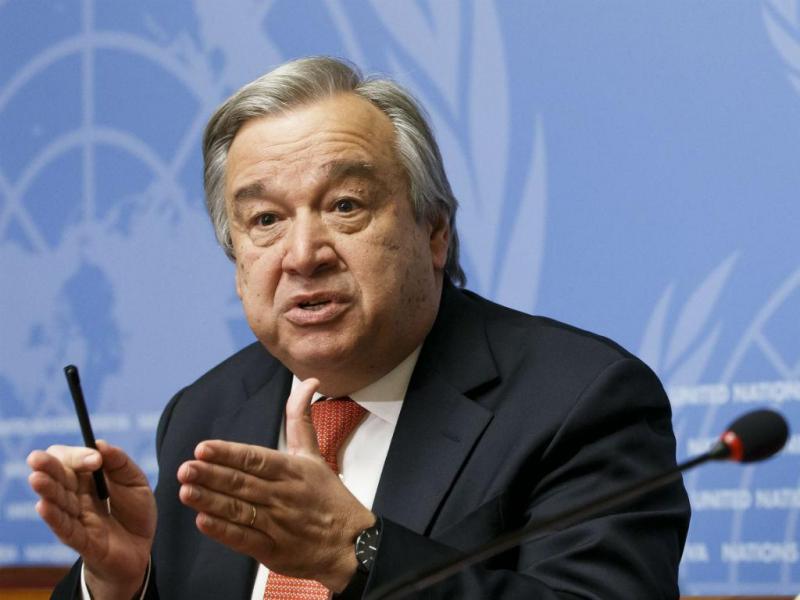 António Guterres no lançamento do Apelo humanitário global para 2015 (Lusa)