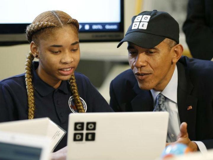 Obama, o primeiro Presidente dos EUA a escrever uma linha de código informático (Reuters)