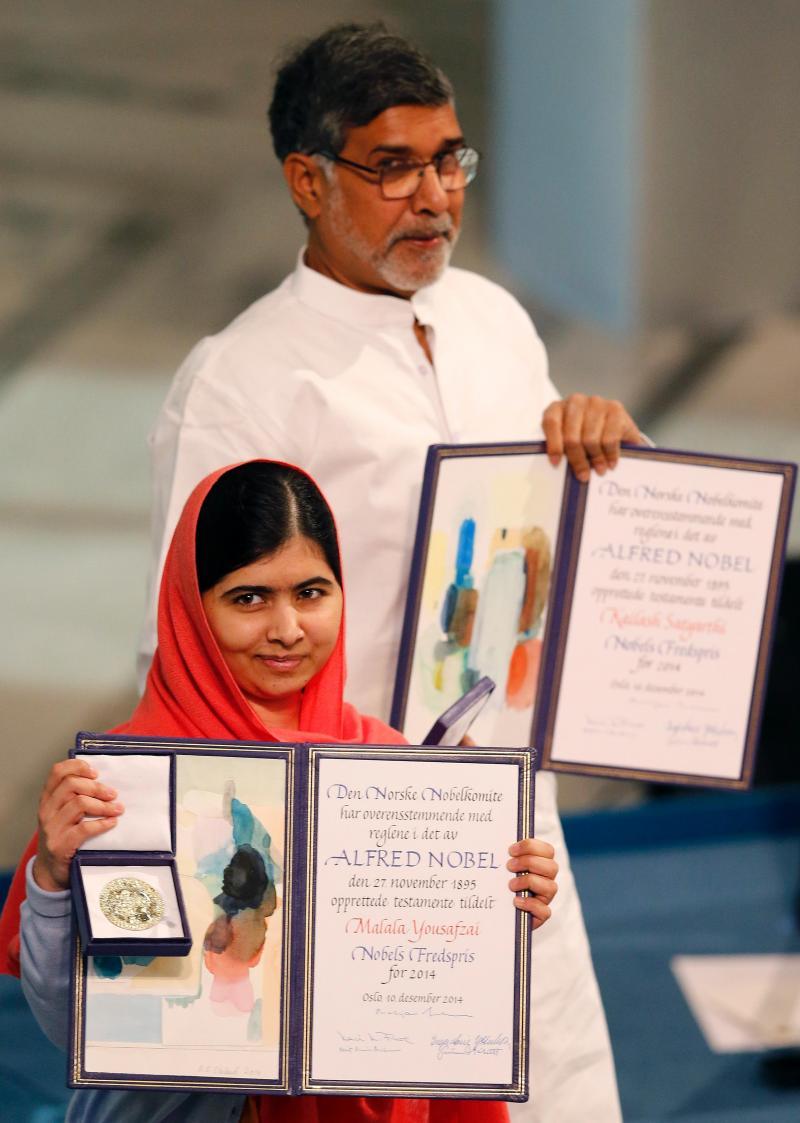 Cerimónia de entrega do Prémio Nobel da Paz, Oslo, Noruega, 10 dezembro 2014 (REUTERS/Suzanne Plunkett)