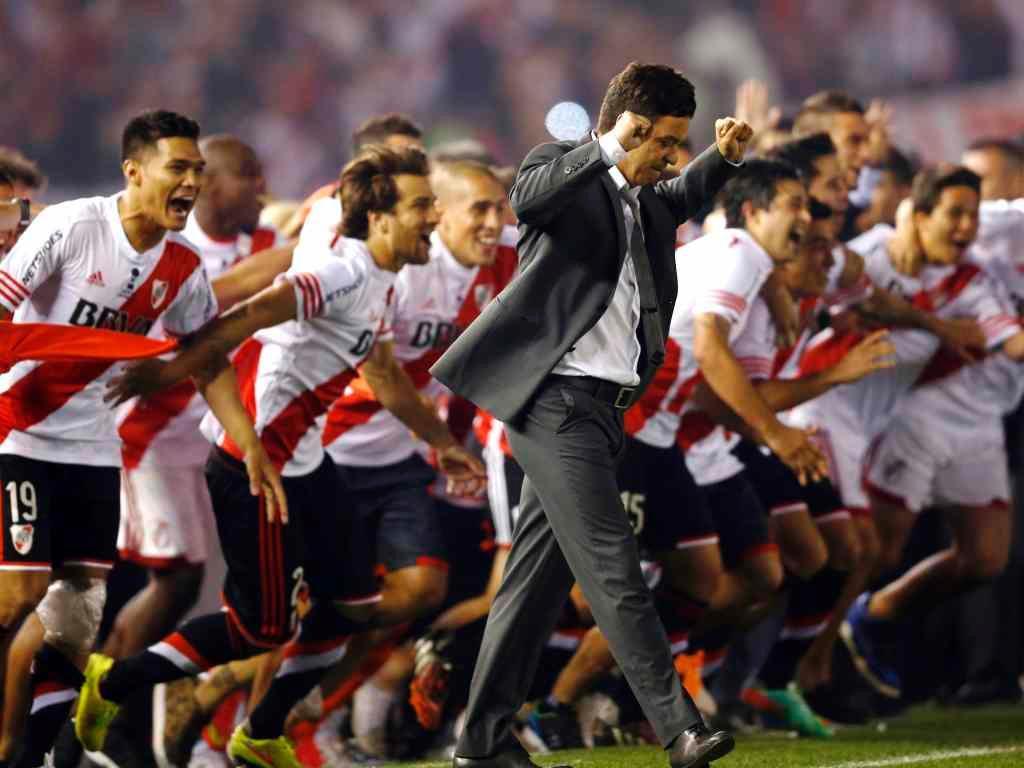 Gallardo e o River campeão da Sul-Americana