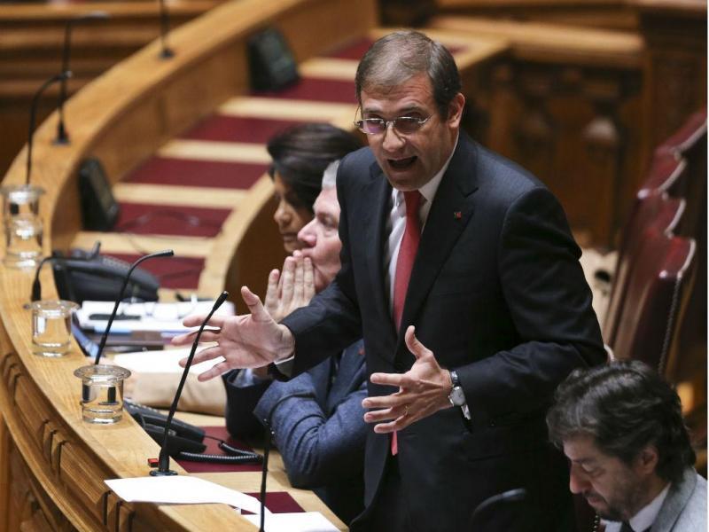Debate quinzenal - Passos Coelho (MIGUEL A. LOPES/LUSA)