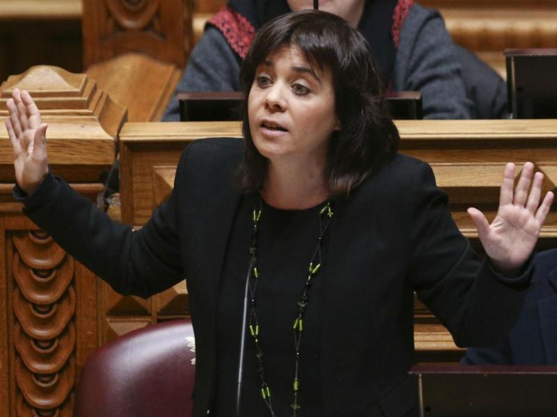Catarina Martins - Debate quinzenal (MIGUEL A. LOPES/LUSA)