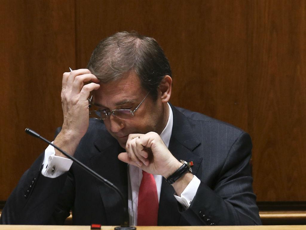 Passos Coelho no Parlamento (Lusa)